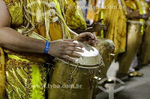 Desfile do Grêmio Recreativo Escola de Samba Império da Tijuca - Bateria - Enredo 2015 - O Império nas águas doces de Oxum  - Rio de Janeiro - Rio de Janeiro (RJ) - Brasil
