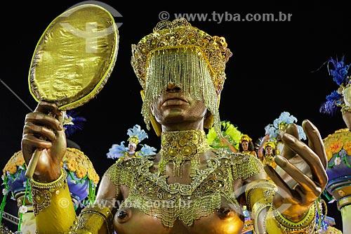 Desfile do Grêmio Recreativo Escola de Samba Império da Tijuca - Carro alegórico - Enredo 2015 - O Império nas águas doces de Oxum  - Rio de Janeiro - Rio de Janeiro (RJ) - Brasil