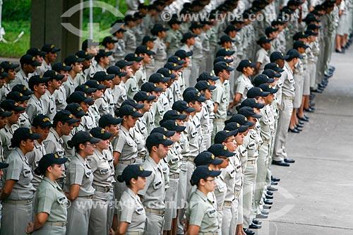 Desfile de alunos da Escola de Formação de Oficiais da Marinha Mercante - EFOMM no Centro de Instrução Almirante Graça Aranha - CIAGA  - Rio de Janeiro - Rio de Janeiro - Brasil