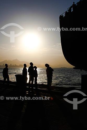 Trabalhadores no Estaleiro Mauá  - Niterói - Rio de Janeiro (RJ) - Brasil