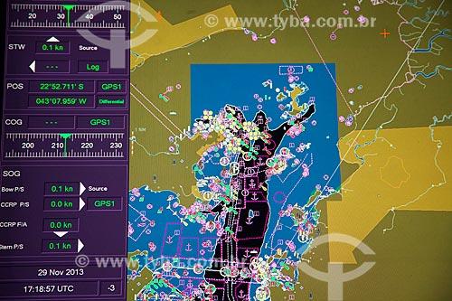 Detalhe de radar de navio no Estaleiro Mauá  - Niterói - Rio de Janeiro (RJ) - Brasil