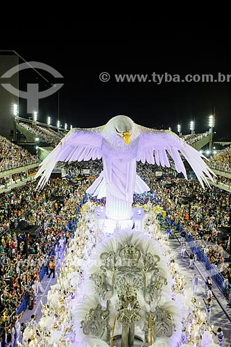 Desfile do Grêmio Recreativo Escola de Samba Portela - Carro alegórico - Enredo 2015 - ImagináRIO: 450 janeiros de uma cidade surreal  - Rio de Janeiro - Rio de Janeiro (RJ) - Brasil