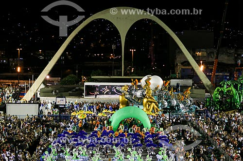 Desfile do Grêmio Recreativo Escola de Samba Portela - Foliões - Enredo 2015 - ImagináRIO: 450 janeiros de uma cidade surreal  - Rio de Janeiro - Rio de Janeiro (RJ) - Brasil