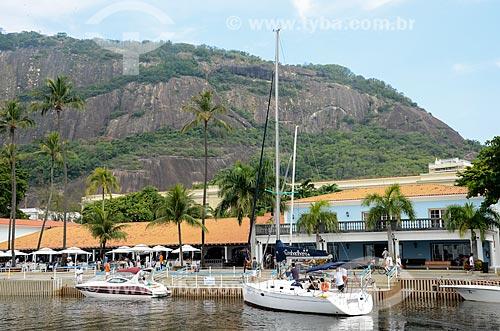 Barcos no Iate Clube do Rio de Janeiro com o Morro da Urca ao fundo  - Rio de Janeiro - Rio de Janeiro (RJ) - Brasil