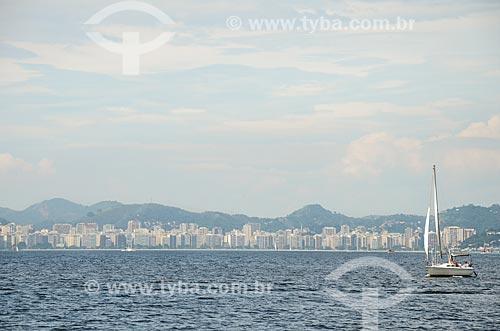 Veleiro na Baía de Guanabara   - Rio de Janeiro - Rio de Janeiro (RJ) - Brasil