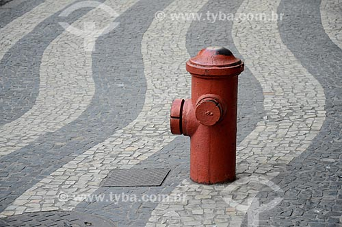 Hidrante no centro do Rio de Janeiro  - Rio de Janeiro - Rio de Janeiro (RJ) - Brasil