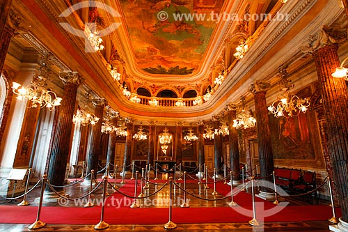 Interior do salão nobre do Teatro Amazonas (1896)  - Manaus - Amazonas (AM) - Brasil