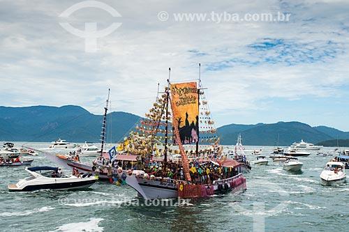 Barcos na procissão marítima de ano novo  - Angra dos Reis - Rio de Janeiro (RJ) - Brasil