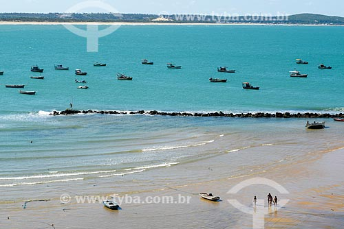 Traineiras na orla da Baía Formosa  - Baía Formosa - Rio Grande do Norte (RN) - Brasil