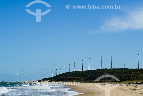 Vista dos aerogeradores do Parque Eólico Millennium  - Mataraca - Paraíba (PB) - Brasil