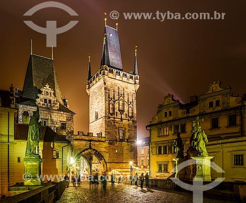 Torre no final da Ponte Carlos (Charles Bridge)  - Praga - Região da Boêmia Central - República Tcheca