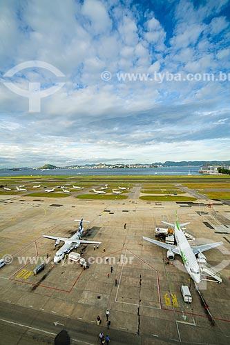 Aviões no Aeroporto Santos Dumont  - Rio de Janeiro - Rio de Janeiro (RJ) - Brasil
