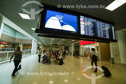 Saguão e painéis informativos no Aeroporto Santos Dumont  - Rio de Janeiro - Rio de Janeiro (RJ) - Brasil