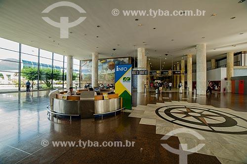 Balcão de informações no Aeroporto Santos Dumont  - Rio de Janeiro - Rio de Janeiro (RJ) - Brasil