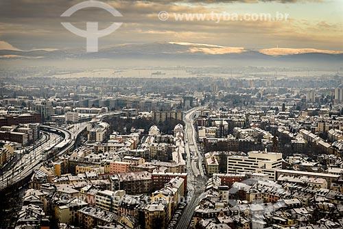 Vista geral da cidade de Frankfurt - West Frankfurt  - Frankfurt - Hesse - Alemanha