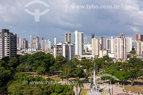 Praça da República com prédios do bairro Reduto ao fundo  - Belém - Pará (PA) - Brasil