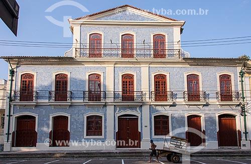 Fachada do casario que hoje abriga o Instituto Histórico e Geográfico do Pará  - Belém - Pará (PA) - Brasil