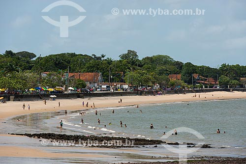 Vista da praia fluvial no bairro de Murumbira - Ilha do Mosqueiro  - Belém - Pará (PA) - Brasil