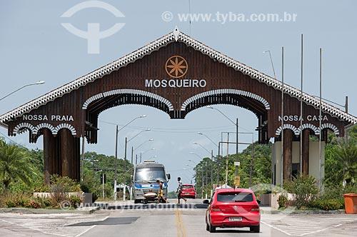 Pórtico das praias da Ilha de Mosqueiro  - Belém - Pará (PA) - Brasil