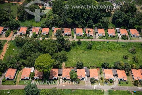 Foto aérea da vila de casas de oficiais da aeronautica próximo à Base Aérea de São Paulo (BASP)  - Guarulhos - São Paulo (SP) - Brasil