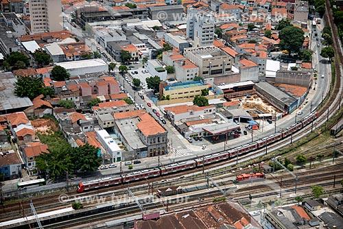 Foto aérea de trem da CPTM próximo ao bairro da Lapa  - São Paulo - São Paulo (SP) - Brasil