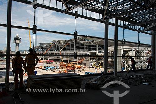 Obras de ampliação do Aeroporto Internacional de São Paulo-Guarulhos Governador André Franco Montoro  - Guarulhos - São Paulo (SP) - Brasil