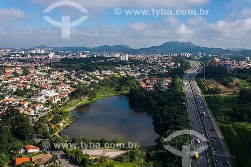 Foto aérea do Parque Cidade de Toronto às margens da Rodovia dos Bandeirantes (SP-348)  - São Paulo - São Paulo (SP) - Brasil