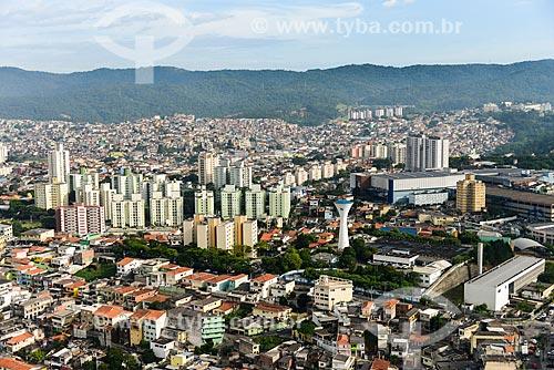 Foto aérea da caixa dágua da Companhia de Saneamento Básico do Estado de São Paulo (SABESP) na Avenida Conselheiro Moreira de Barros  - São Paulo - São Paulo (SP) - Brasil