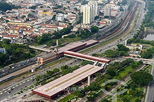 Foto aérea da Estação Vila Matilde do Metrô São Paulo com a Avenida Radial Leste  - São Paulo - São Paulo (SP) - Brasil