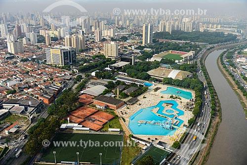 Foto aérea do Parque São Jorge - sede social do Sport Club Corinthians Paulista  - São Paulo - São Paulo (SP) - Brasil
