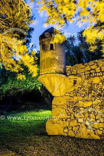 Posto de observação da Fortaleza de São José da Ponta Grossa (século XVIII)  - Florianópolis - Santa Catarina (SC) - Brasil