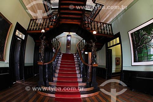 Interior do Centro Cultural Palácio Rio Negro (século XX) - antiga sede do Governo do Estado  - Manaus - Amazonas (AM) - Brasil