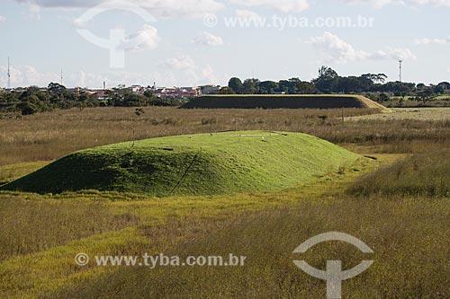 Depósito de rejeitos da Comissão Nacional de Energia Nuclear (CNEN) onde está o césio-137 que provocou o acidente em Goiânia  - Abadia de Goiás - Goiás (GO) - Brasil