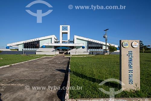 Entrada da sede da Comissão Nacional de Energia Nuclear (CNEN)  - Abadia de Goiás - Goiás (GO) - Brasil