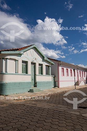 Fachada de casarios na Rua Direita  - Pirenópolis - Goiás (GO) - Brasil