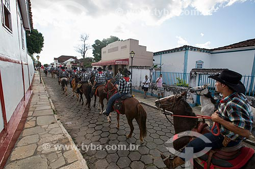 Cavalgada de envio da Folia de Reis  - Pirenópolis - Goiás (GO) - Brasil