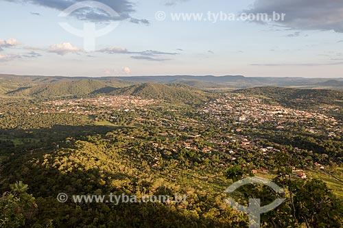 Vista geral da cidade de Pirenópolis a partir do Morro do Frota - Serra dos Pireneus  - Pirenópolis - Goiás (GO) - Brasil