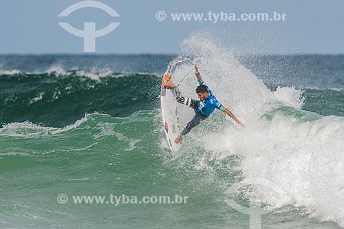 Campeonato mundial de surf (World Surf League) - Etapa Rio Pro - Filipe Toledo surfando  - Rio de Janeiro - Rio de Janeiro (RJ) - Brasil
