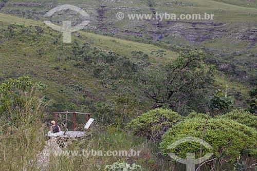 Vista do Mirante das Andorinhas no Parque Estadual da Serra dos Pireneus  - Pirenópolis - Goiás (GO) - Brasil