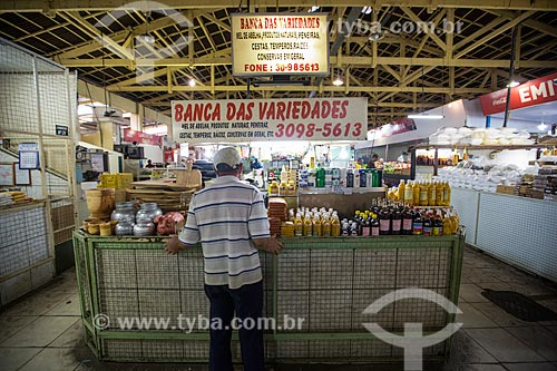Barraca no interior do Mercado Municipal Carlos de Pina  - Anápolis - Goiás (GO) - Brasil