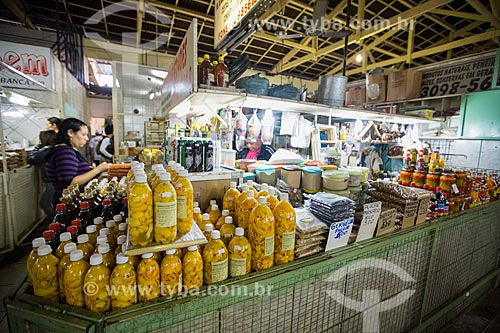 Mercadorias à venda no Mercado Municipal Carlos de Pina  - Anápolis - Goiás (GO) - Brasil