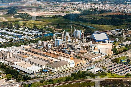 Foto aérea da fábrica da Suzano Papel e Celulose  - Suzano - São Paulo (SP) - Brasil