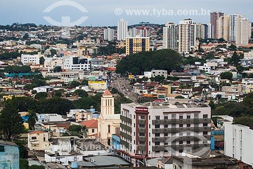 Vista da cidade de Anápolis com Hotel Itamaraty em primeiro plano e bairro Jundiaí ao fundo  - Anápolis - Goiás (GO) - Brasil