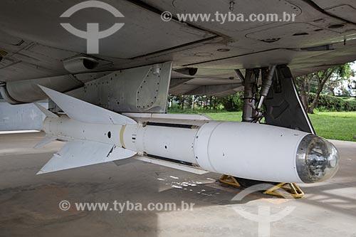 Detalhe de míssil em avião Caças Mirage III na Base Aérea de Anápolis (BAAN)  - Anápolis - Goiás (GO) - Brasil