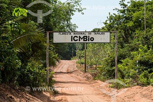 Pórtico da Floresta Nacional do Tapajós  - Belterra - Pará (PA) - Brasil