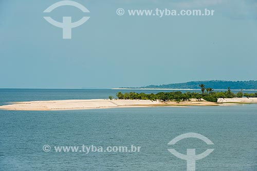 Vista da Praia de Aramanai no Rio Tapajós  - Belterra - Pará (PA) - Brasil