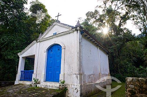 Capela de Nossa Senhora da Conceição do Soberbo (1713) - no Centro de Visitantes von Martius do Parque Nacional da Serra dos Órgãos  - Guapimirim - Rio de Janeiro (RJ) - Brasil