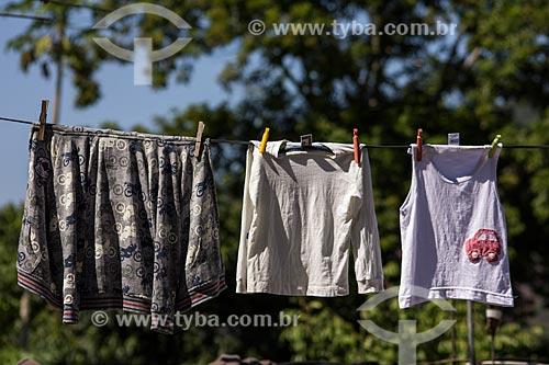 Roupas secando em varal  - Rio de Janeiro - Rio de Janeiro (RJ) - Brasil