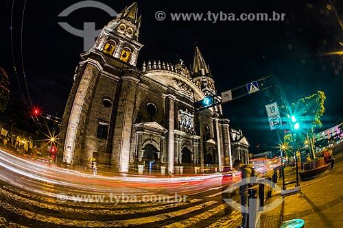 Fachada da Catedral de la Asunción de María Santísima (Catedral Basílica da Assunção de Maria Santíssima) - 1618  - Guadalajara - Jalisco - México