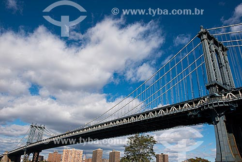 Vista da Ponte de Manhattan (1909) a partir do Brooklyn  - Cidade de Nova Iorque - Nova Iorque - Estados Unidos